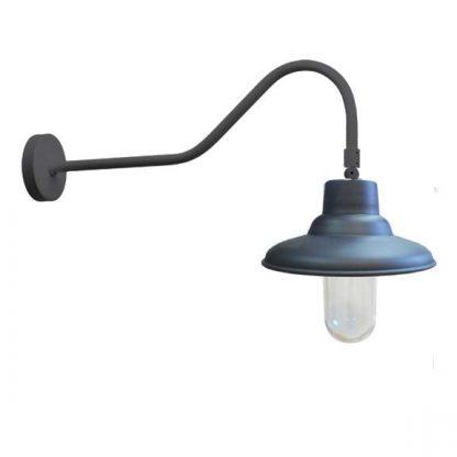Industrial vintage gooseneck LED FLAT verre