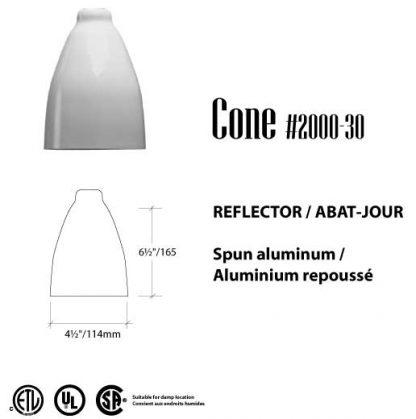 PAR-30 CONE abat-jour tourquise