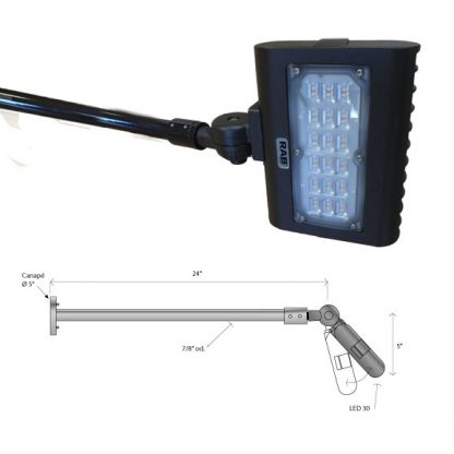 LED outdoor reflector gooseneck dimension
