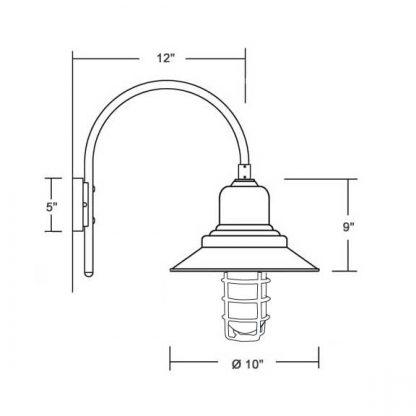 Lampe nautique avec grille