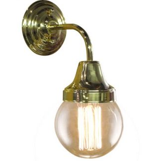 vintage wall sconce in brass