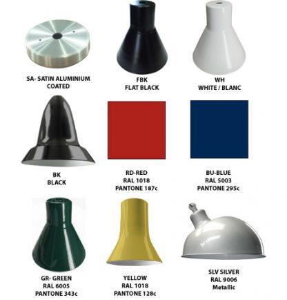 lighting fixture colors