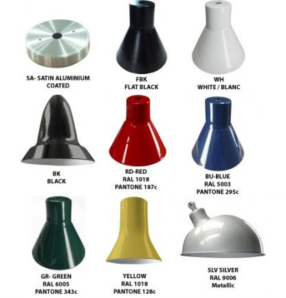 lighting fixture standard colors